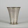 Arvid floberg, a silver beaker, stockholm circa 1780.