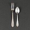 12 + 12 silver cutlery, model 'vasa', gab stockholm.