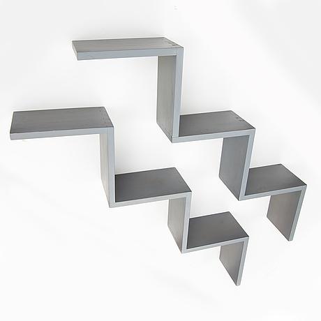 Jonas bohlin, 2 wall shelfs, 'zink', källemo ab, värnamo.