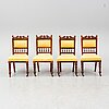 A set of four ca 1900 chairs.