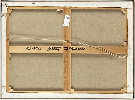Albert johansson, oil on canvas, signed.