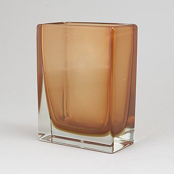 An Italian  glass vase from Venini Murano.