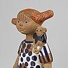 Lisa larson, a 'pippi longstocking' stoneware figurine, gustavsberg.