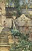 Regina kylberg-bobeck, watercolour, signed and dated rom 1881.