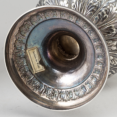 Charles price, pokal med lock, silver, london 1816.