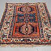 A rug, semi-antique karadja, sannolikt 217 x 133 cm.