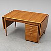 Nils jonsson, a desk with chest of drawers, late 20th century.