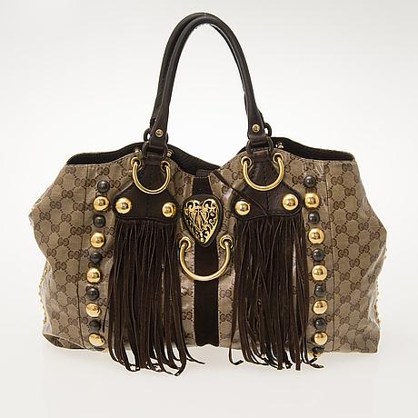 Gucci, 'babouska heart' gg crystal canvas bag.