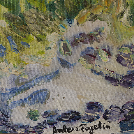 Anders fogelin, oil on canvas, signed.