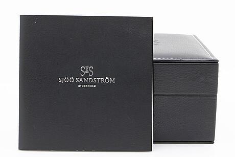 SjÖÖ sandstrÖm, royal steel classic, armbandsur, 37 mm.