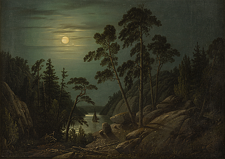 Carl abraham rothstÉn, oil on canvas signed and dated 1857.