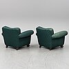 A pair of armchairs, probably 1930s-40s.