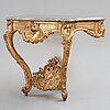 A swedish rococo 18th century console table.