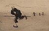 """Hugo simberg, """"death on skates""""."""