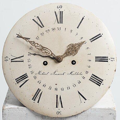 A swedish rococo longcase clock by mickael åmarck, late 18th century.