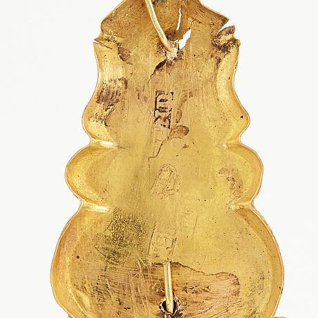 HÄnge, med kedja. 18k guld.