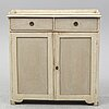 A 19th century painted cupboard.