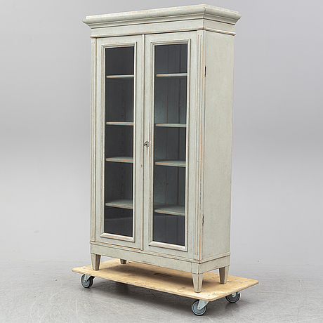 A late 19th century painted display cabinet.