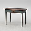 A first half of the 19th century painted writing desk.