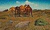 "Nils kreuger, ""en klunga hästar"" (a group of horses)."