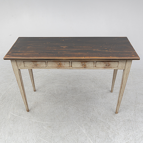 A late 19th century painted table.