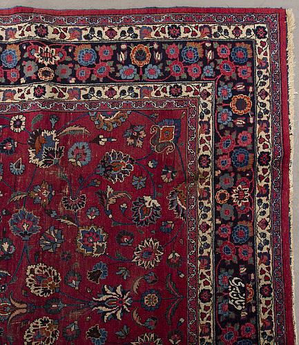 A semiantique meshad carpet ca 335 255 cm.
