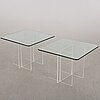 A pair of side tables.