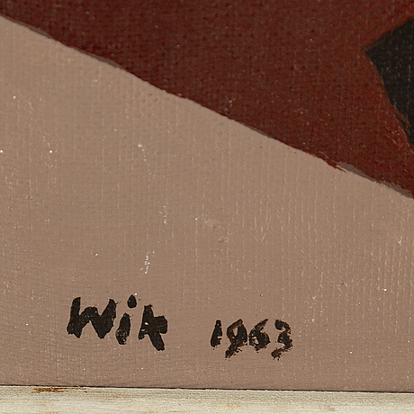 Wilhelm wik, oil on canvas/panel, signed wik and dated 1963.