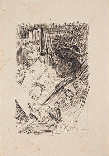 "Anders zorn, ""reading - lektyr""."