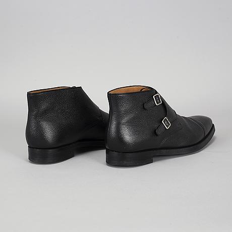 Crocket & jones, camberley black scotch grain shoes, england, size 45 (10,5).