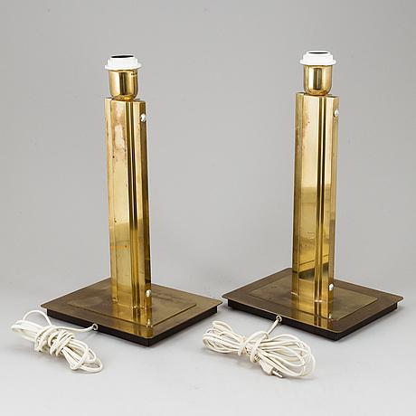 Bordslampor, ett par, Örsjö industri ab, sent 1900-tal.