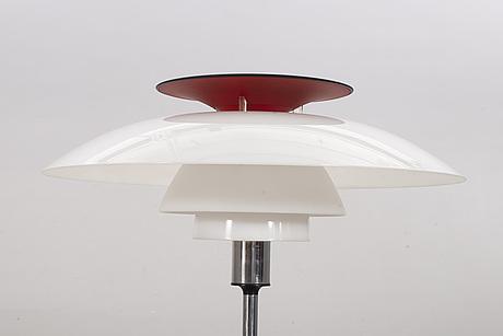 "Poul henningsen, bordslampa, ""ph-80"", louis poulsen, 1900-talets andra hälft."