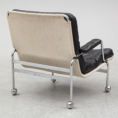 Bruno mathsson, a tubularsteel 'karin' easy chair from dux.