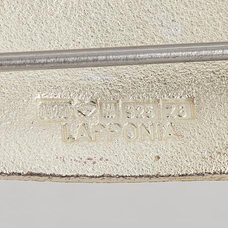 Lapponia, design zoltan popovits brooch, sterling silver.
