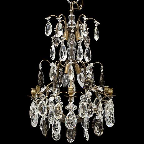Ljuskrona, barockstil, omkring 1900-talets mitt.