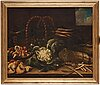 Simone del tintore follower of, still life with asparagus, mushrooms, cauliflower and turnips.