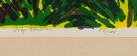 Inge schiÖler, lithograph, signed and numbered 53/195.