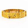 """BjÖrn weckstrÖm, a 14k gold bracelet """" velvet clouds"""". lapponia 1972."""