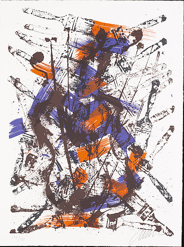 Fernandez arman, color lithograph, signed, numbered 134/150.