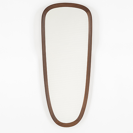 A teak framed mirror, 1950's.