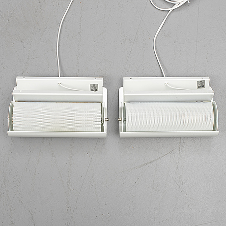 BÖrge lindau & bo lindekrantz, a pair of 'zero' wall lights, 1980's.