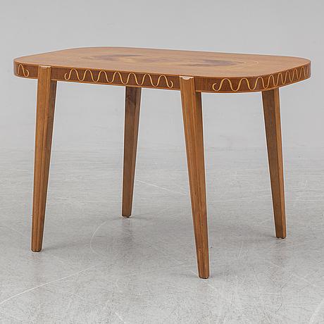 A swedish modern mahogany coffee table, 1940's.