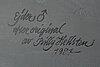 Billy hellsten, decoy eider male, handpainted signed 1988.