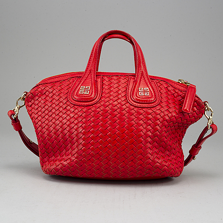 Givenchy, a 'nightingale' red leather bag.