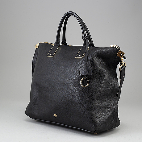 Mulberry, black leather bag.