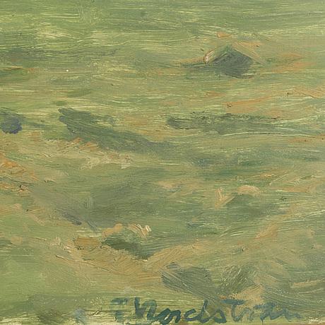 Gerhard nordstrÖm, oil on panel signed.