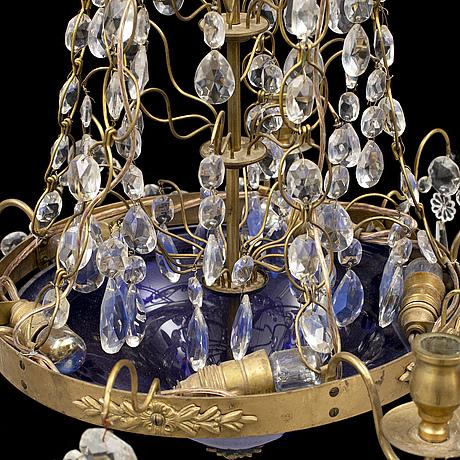 Ljuskrona, gustaviansk stil, 1900-talets mitt.