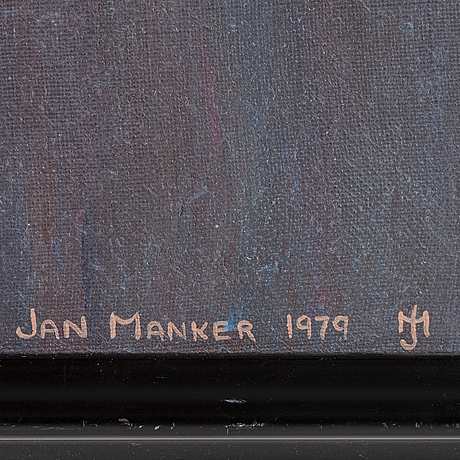 Jan manker, oil on canvas, signed and dated 1979.