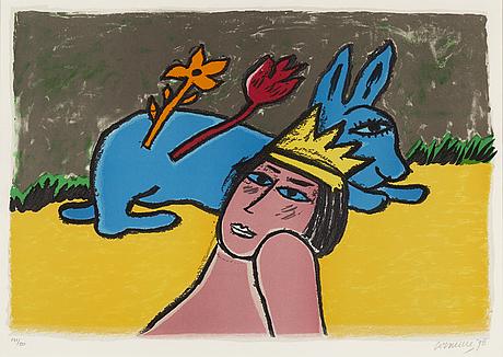 Beverloo corneille, färglitografi, 1998, signerad 141/150.