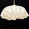 Josef frank, a model 2560 brass and textile ceiling light, svenskt tenn.